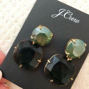 J. Crew Jewelry - J crew enamel emerald earrings